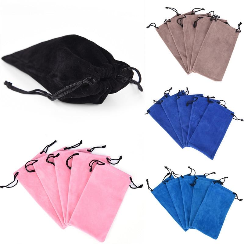 10pcs/lot Drawstring Sunglass Bag Very Soft Eyeglasses Pouch Eyewear Cases Bags In Velvet Material