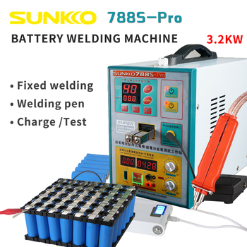 цена на SUNNKKO 788S PRO SPOT WELDER MACHINE 3.2KW BATTERY WELDING MACHINE WITH 70B SPOT WELDING PEN 110V/220V  FREE SHIPPING