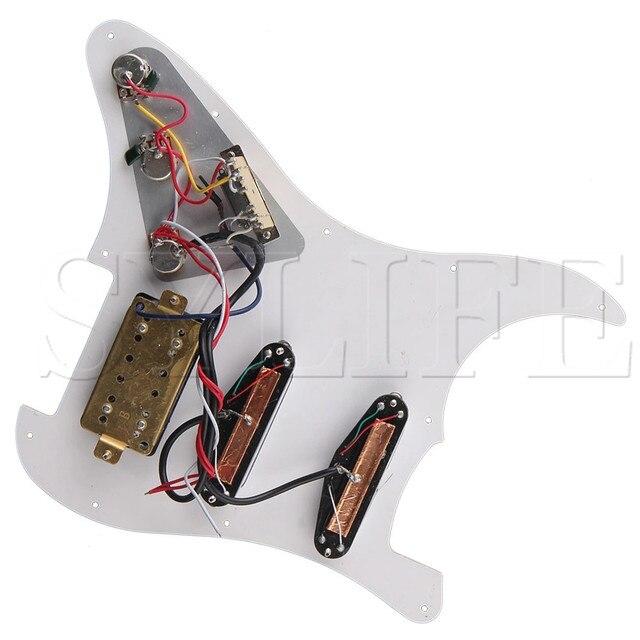 Pickguard précâblés chargés à 3 plis avec sélecteur à bascule à 5 voies