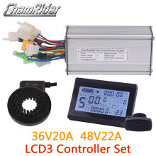 36V 48V 500W Controller Lcd LCD3 Display Meter Pas Set E-Bike Conversie Kit Dual Mode hall Sensor En Hal Sensorless