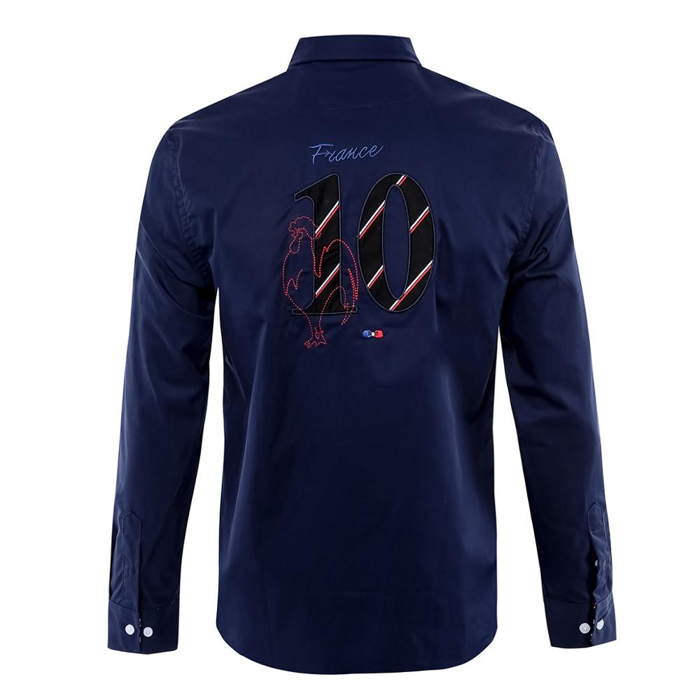 Doxvhd Trend Men Shirt Homme Camisa Masculina Full Shirt Business Luxury Fabric Winter Cotton Casual Shirts Man M-XXL