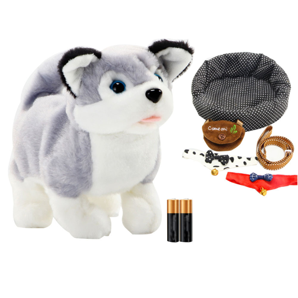 Baby Electronic Pets Toy Simulation Plush Robot Dog Walking Interactive Shake The Tail Toy Dog Children Kids Birthday Gifts Toys