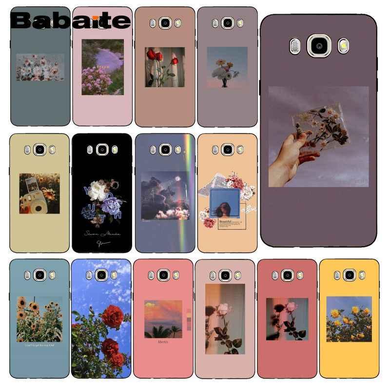 Babaite אדום צהוב ורוד פרח אסתטי רך מקרה טלפון עבור Samsung Galaxy J7 J6 J8 J4 J4Plus J7 DUO J7NEO j2 J7 ראש
