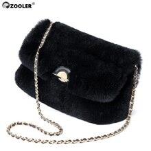 ZOOLER luxury Rabbit Fur leather bag for women 2019 cross body bags fashion purse bolsa feminina#JH202