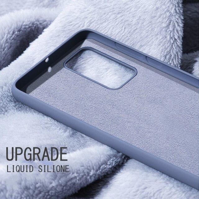 Liquid Silicone Candy Case For Samsung Galaxy A51 A71 A81 A91 A01 A11 A21 A31 A41 A50 A70 S20 Ultra S10 Plus Note 10 Lite Cover 3