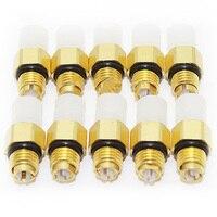 10 個エアサスペンション修理キット空気バルブ M8x1 ベンツ W251 W164 W212 W211 W220 W221 新エアコネクタチューブ真鍮継手 -