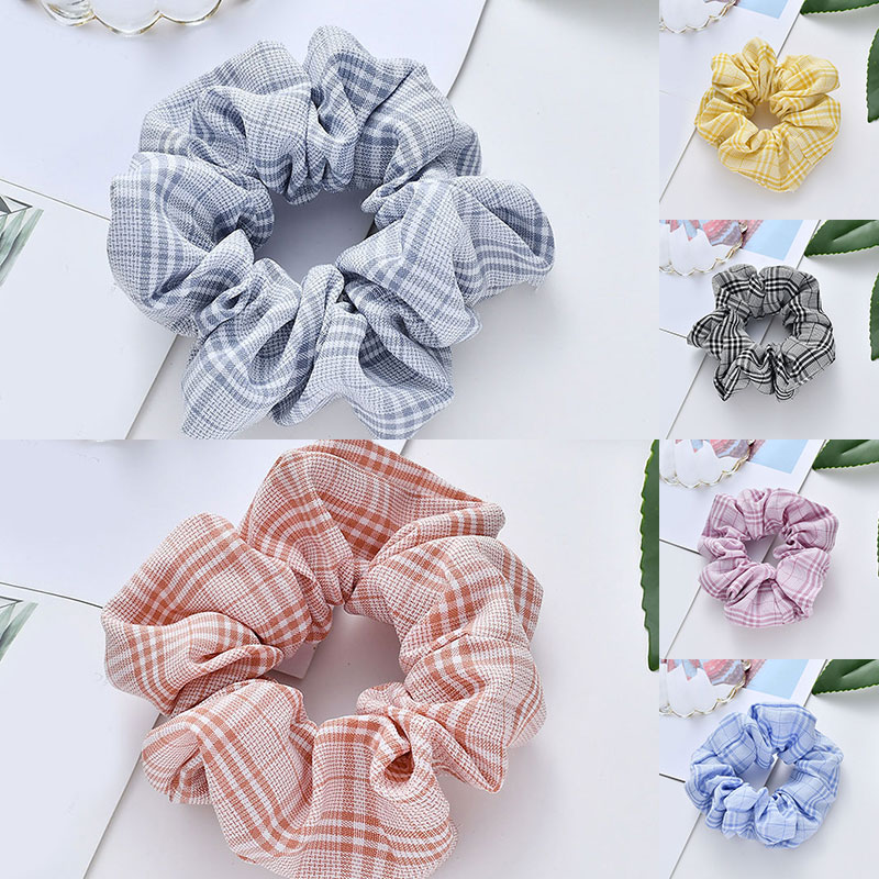 Fashion Hair Scrunchie Elastic Hair Bands Solid Color Women Girls Headwear Ponytail Holder Hair Accessories Hair Band Hair Tie