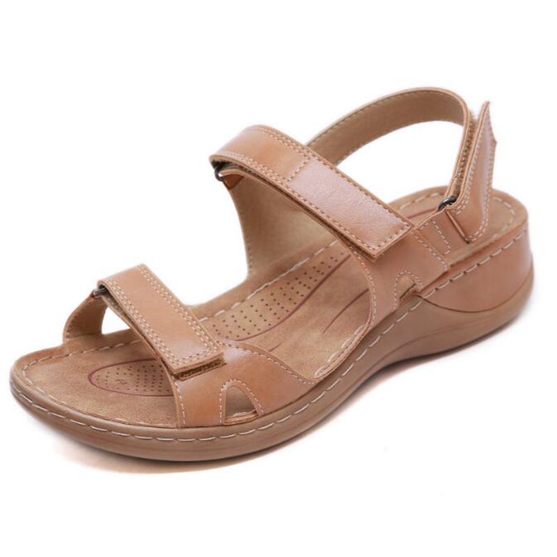 Image 2 - BEYARNENew summer sandals for women non slip, sewing thread sandals, casual open toe shoes for ladies, platform beach shoesL017Low Heels   -