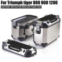 800 xc lado caso almofadas motocicletas pannier capa conjunto para casos de bagagem para triumph tiger 800 xc 900 1200 Molduras ornamentais e capas Automóveis e motos -