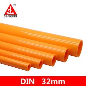 Sanking 32mm UPVC naranja tubería de PVC tubería de agua conector tubo de plástico adaptador de jardín plantas accesorios de riego