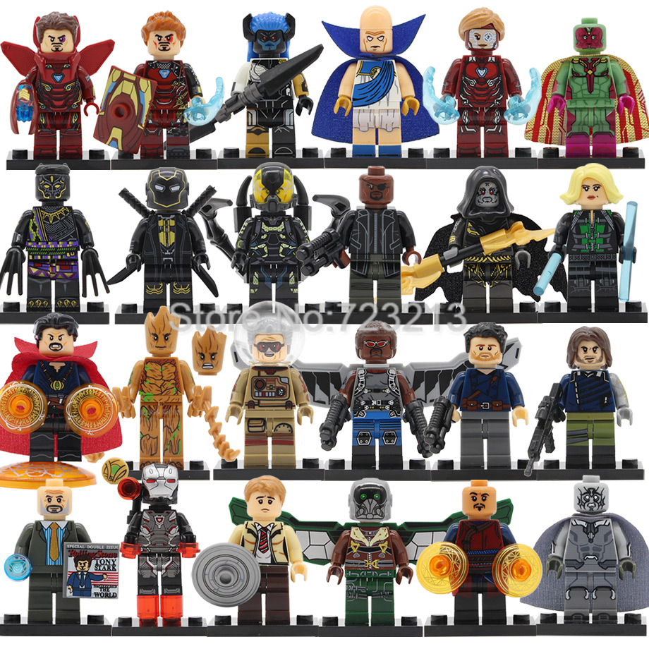 Single Super Heroes Marvel Figure Falcon Iron Man Bucky Vulture Yellow Jacket War Machine Building Blocks Brick Toys Legoing