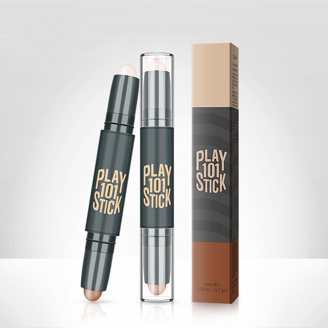 Women Highlighter  Eye Face Concealer Stick Contouring Bronzers Green Pencil Cosmetic 3D Makeup Corrector Contour Stick 1
