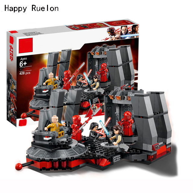 New Star Wars Snoke's Throne Room Compatible Legoingly StarWars 75216 Model Building Blocks Bricks Children Toys Christmas Gifts