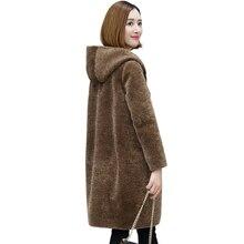 Real Fur Coat Sheep Shearing Fur Coat Wo