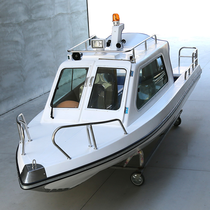 5.2m 4 Seats Half Shed Fiberglass Boat FRP High Speed Fishing Vessel Aluminum Yacht Sea Fishing Ship Boat