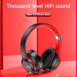 Image 3 - レノボHD200 bluetoothワイヤレスステレオヘッドフォンをキャンセルするノイズとロング待機寿命BT5.0 xiaomi iphoneレノボヘッドセット