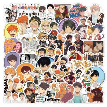 100 Pcs/Pack Anime Haikyuu!! Stickers For Phone Label Decorative Stationery Scrapbooking Decal Children Toys