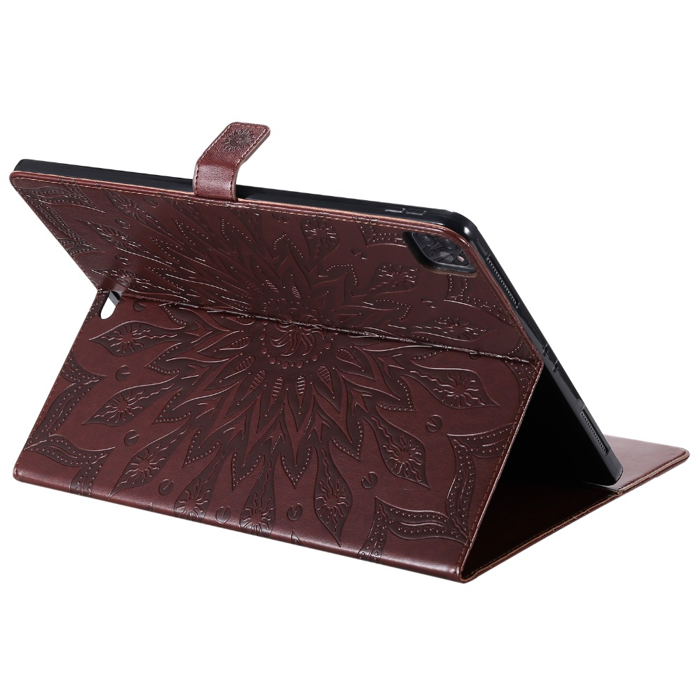 Protective iPad Shell Case Embossed 12 for 2020 Flower Pro Skin 9 Cover 3D Leather