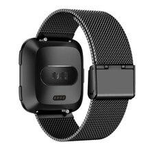 Для Fitbit Versa ремешок для часов из нержавеющей стали сетчатый ремешок аксессуары браслеты на ремне браслет Ремешки для часов Fitbit Versa