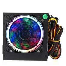 Alimentation maximale 800W, ventilateur multicolore rvb 12cm, 24 broches, PCI SATA 12V, alimentation pour ordinateur de bureau et de jeu