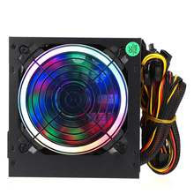 Max 800W alimentation 12cm multicolore LED rgb ventilateur 24 broches PCI SATA 12V ordinateur alimentation bureau Gaming alimentation