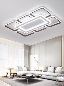 Image 3 - Moderne LED kronleuchter decke für wohnzimmer schlafzimmer plafonnier führte braun aluminium + acryl moderne kronleuchter leuchten