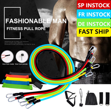 11/17pc High Quality Resistance Bands Set Expander Yoga Exercise Fitness Rubber Tubes Band Stretch Training Home Gyms at