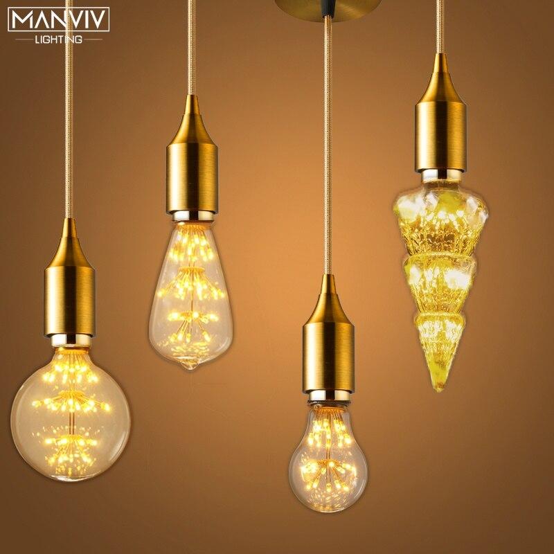 Nordic Pendant Lights Modern Vintage Loft Hanging Lamp E27 Living Room Kitchen Restaurant Bar Home Loft Industrial Decor Lightin
