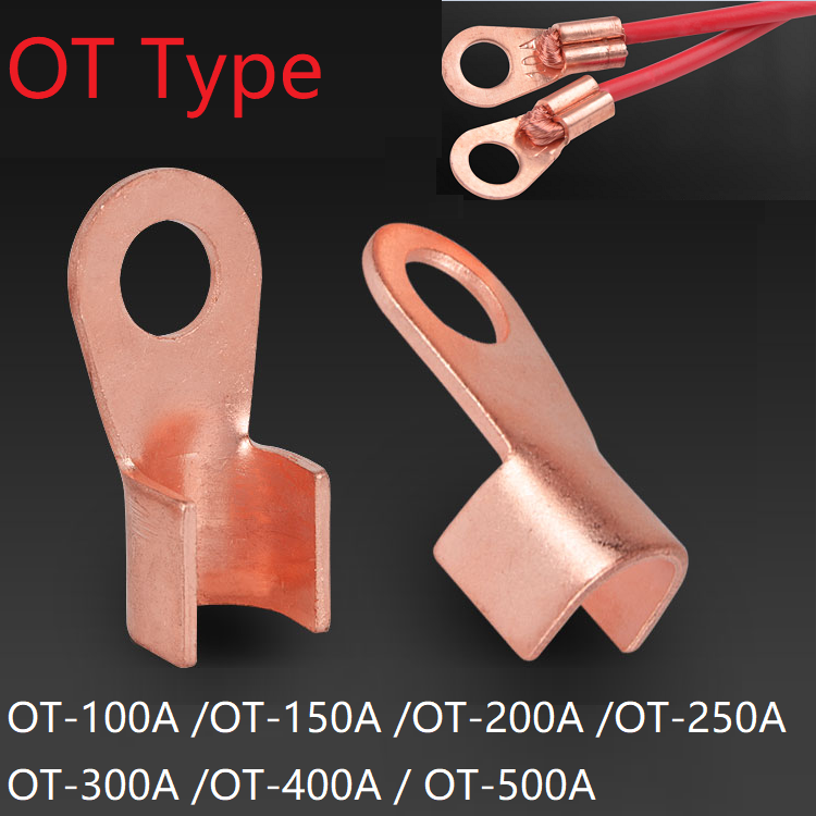 20pcs OT-50A Copper Cable Lugs 6mm Dia Ring Wiring Connector Terminal for Car