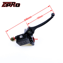 TDPRO Front Right 22mm Handlebar Hydraulic Brake Master Cylinder Lever Fit GY6 50cc to 150cc Scooter Suzuki Yamaha Pit/Dirt Bike rear hydraulic disc handle brake system master cylinder hose lever caliper fit gy6 cg 150cc 200cc 250cc atv quad free shipping