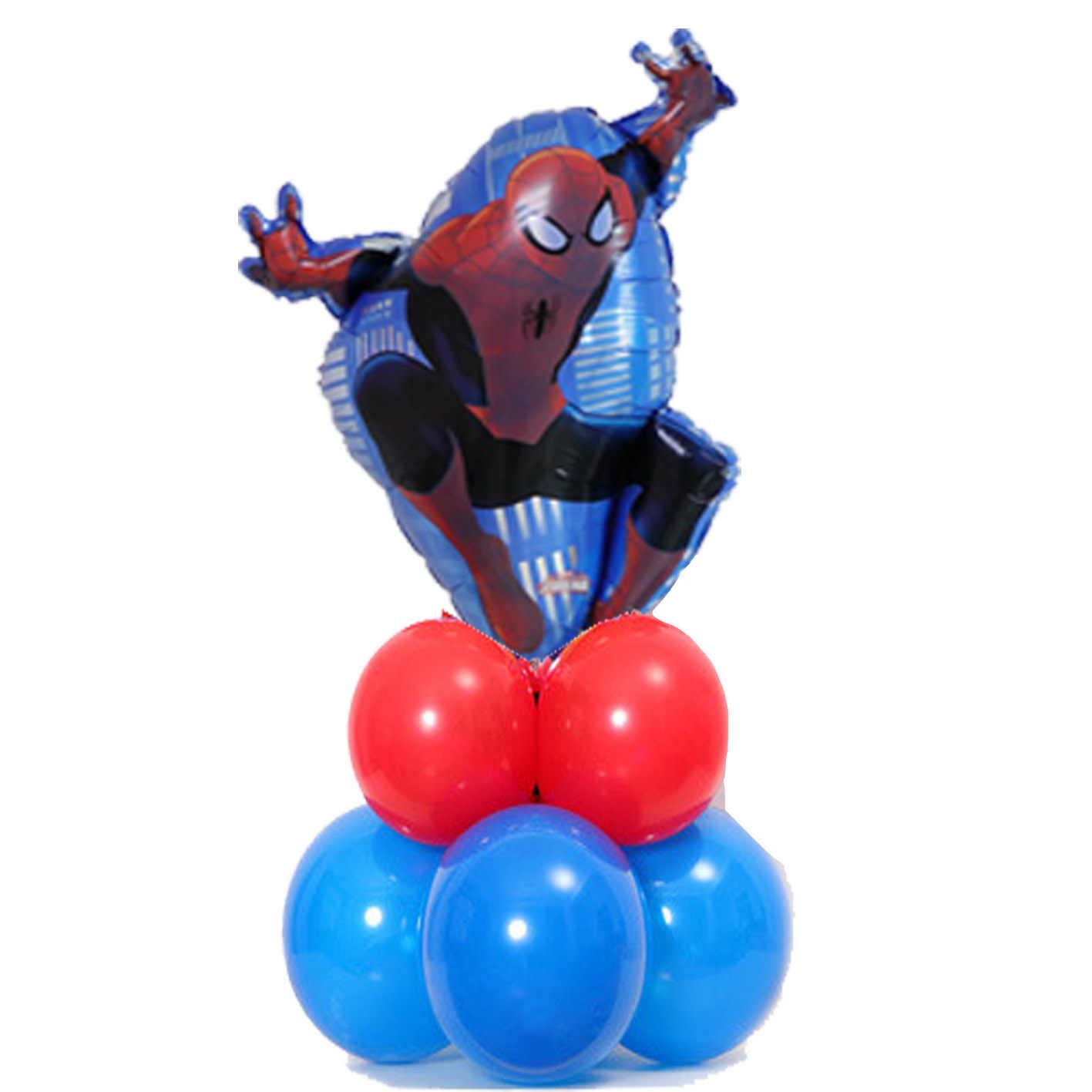 1 компл. Человек-паук стоящая колонна фольгированные шары латексный шар воздушный Глобус супергерой с днем рождения украшения для мальчиков детские игрушки подарок