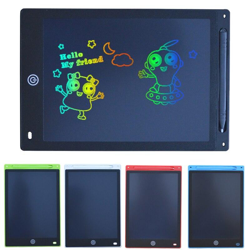12 polegadas inteligente colorido lcd escrita tablet digital desenho mensagem placa gráfica crianças placa de escrita escrever almofada presente