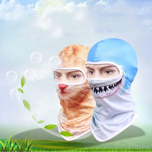 2019 Motorcycle Face Mask  Balaclava Men Quick Dry Summer Motorcycle Masque Moto Helmet Scarf Skull Mask# 1