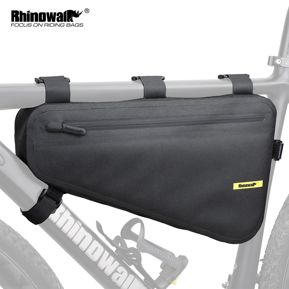 Rhinowalk Waterproof <font><b>Bicycle</b></font> Bag <font><b>Sets</b></font> 13L Saddle Bag + 4L Cycling <font><b>Frame</b></font> Triangle Bag for Road Bike Long-distance Travel Bag image
