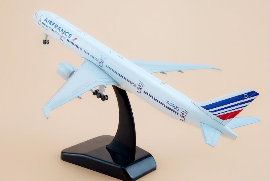 16cm plane model Boeing 777 Air France Airways aircraft B777 Metal simulation airplane model for kid toys Christmas gift image