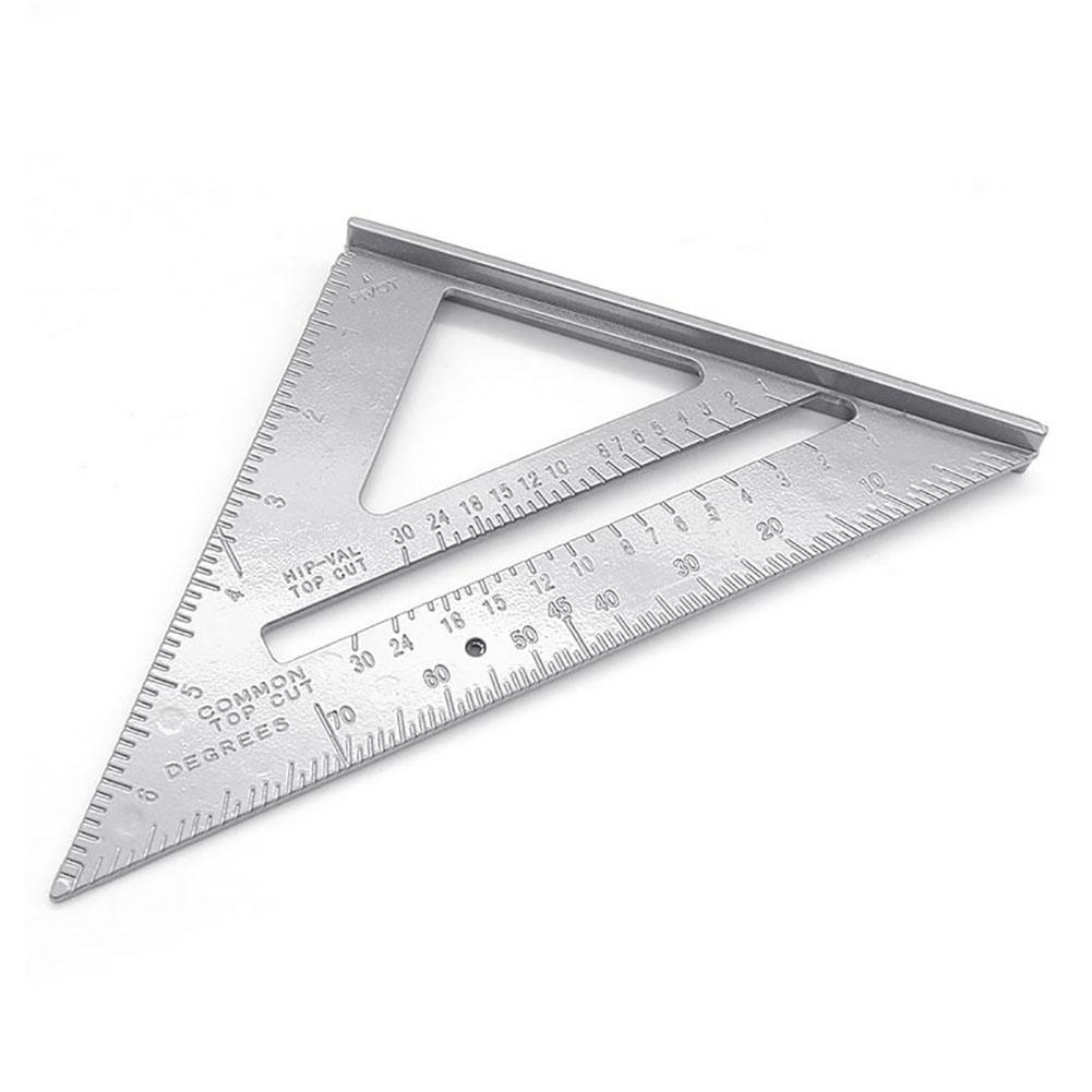 7inch Aluminum Alloy Triangle Angle Protractor Measuring Ruler Woodworking Tool