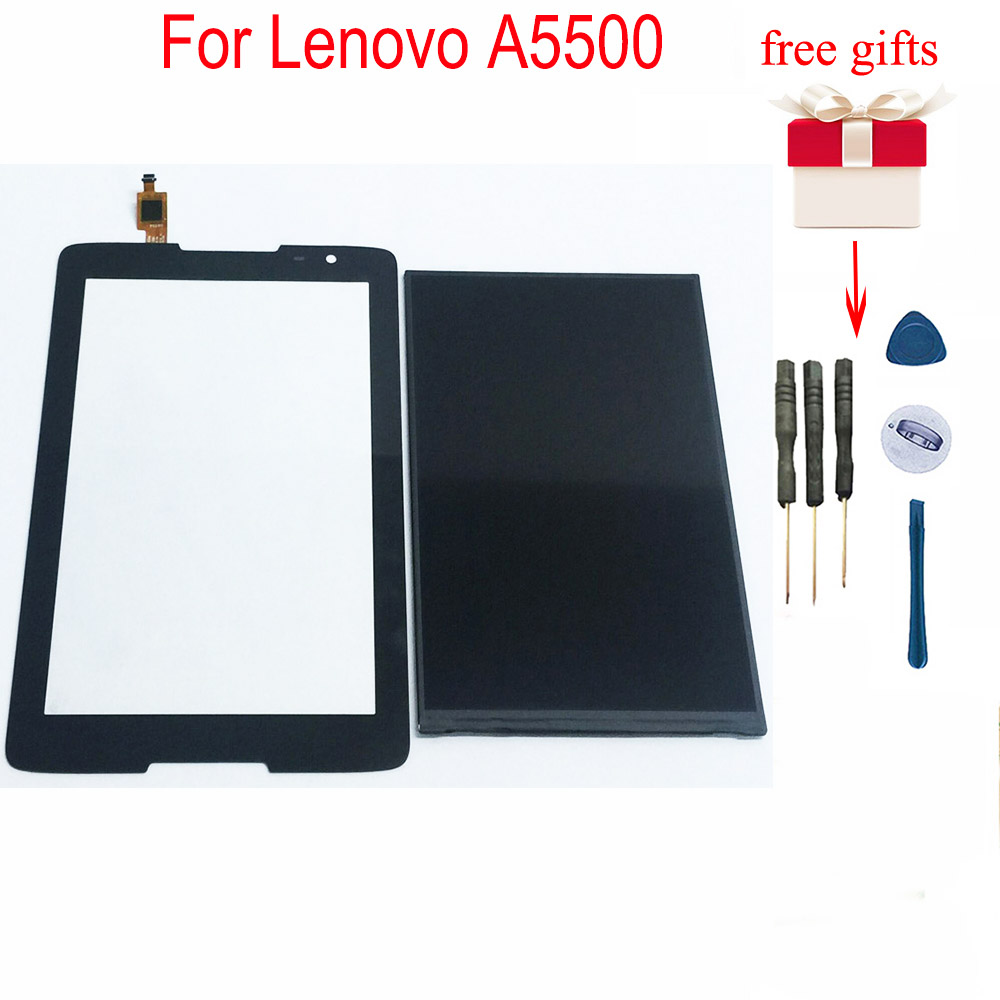 For Lenovo A5500 LCD Display Digitizer Touch Screen Panel Replacement For Lenovo IdeaTab A5500F A5500-H A5500-HV A8-50