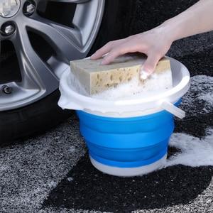 Image 5 - 자동차 접는 양동이 다기능 물 저장 양동이 텔레스코픽 스토리지 박스 세차 야외 낚시 양동이
