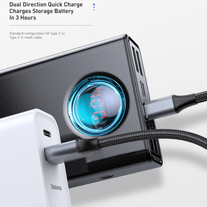 Image 4 - Baseus 전원 은행 30000 미리 암 페르 하우어 65 와트 PD3.0 빠른 충전 3.0 FCP SCP 휴대용 외부 배터리 여행 충전기 전화 노트북 태블릿