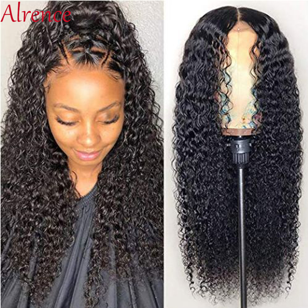 Kinky Curly Human Hair Wigs Pre Plucked With Baby Hair Remy Brazilian Wigs Glueless Lace Front Human Hair Wigs For Black Women