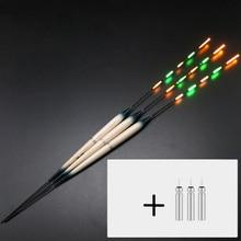 3pcs/set Luminous Fishing Float LED Electric + 3pcs of CR425 Battery In Storage Box Light Tackle B330