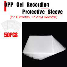 50PCS OPP gel record protective cover for turntable player LP vinyl record self-adhesive record bag 12