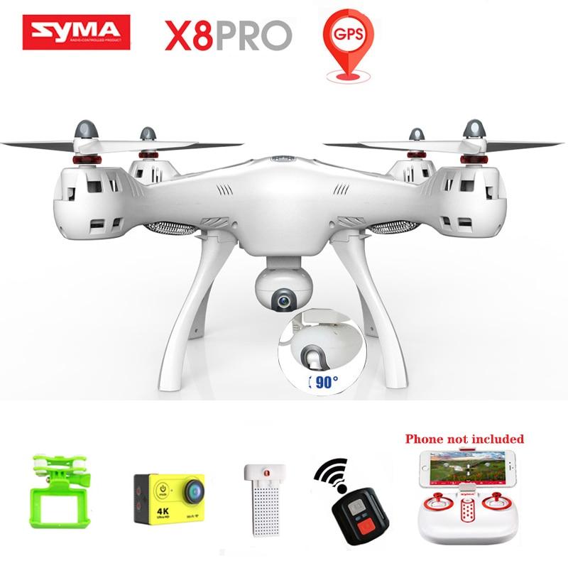Syma RC Gps Drone Mit Kamera 720p Hd Wifi Fpv Sechs Achse Echt-zeit Übertragung Mobile App Control rc Quadcopter Drohnen X8 Pro