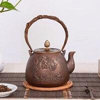 Demlik  bakır çaydanlık  su ısıtıcısı  sıcak su çaydanlık  çaydanlık 1200 ml su  kung fu çay seti.