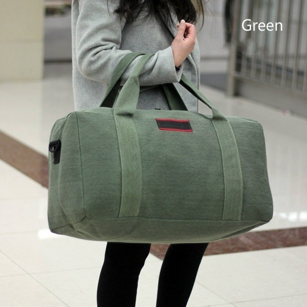 Fashion Products Working Women Luggage Bag Travel Bag Wearable Canvas Handbag Large Capacity Clothes Weekend Bag More Colors