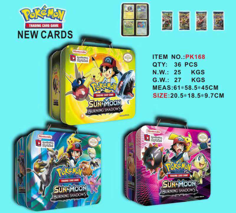 TAKARA TOMY Pet Pokemon Cards High-end Gift Box  Cards The Toy Of Children  POKEMON Card Iron Box