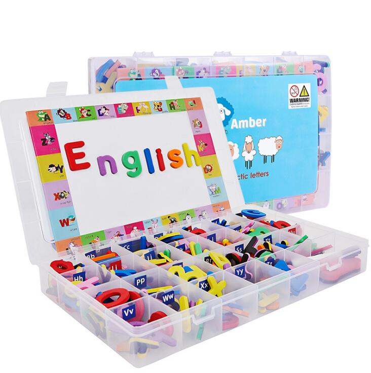 English alphabet Magnetic Fun Alphabet A-Z Educational Toys English Capital Magnetic Stickers Spell Words English Early toy 2
