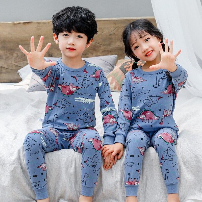 2020 Spring Children Pajamas Animal Cartoon Sleepwear Kids Clothes Set Autumn Pyjamas Kids Toddler Baby Sleepwear For Boys Girls