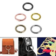 цена на 1x Round Spring Snap Circle Clip Hook Keychain For Outdoor Camping Hiking 28mm