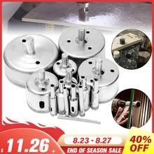 14 teile/satz 3-70mm Diamant Loch Sah Bohrer Werkzeug für Keramik Porzellan Glas Marmor Bohrer Bits
